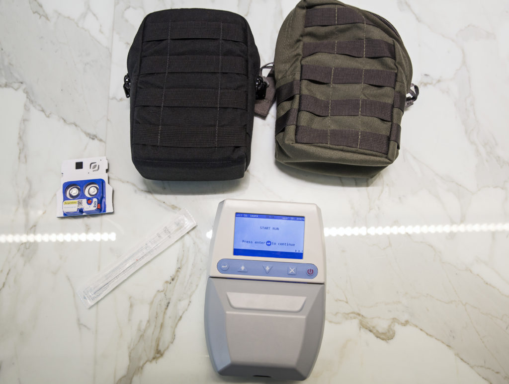 A MAP device and accessories are seen at DARPA.