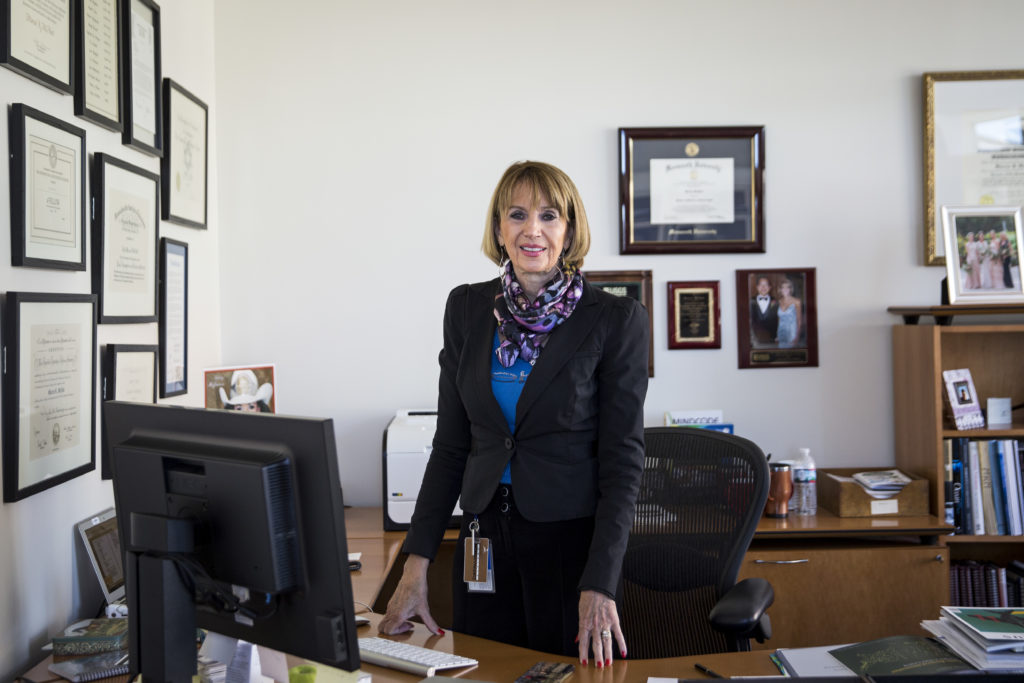 Dr. Marcia McNutt, currently the Editor-in-chief at Science, poses for a portrait in her office in Washington, Monday, Nov. 16, 2015. (Drew Angerer for STAT)