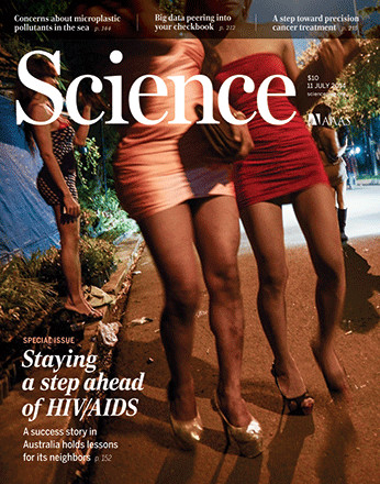 The July 11, 2014 cover of Science