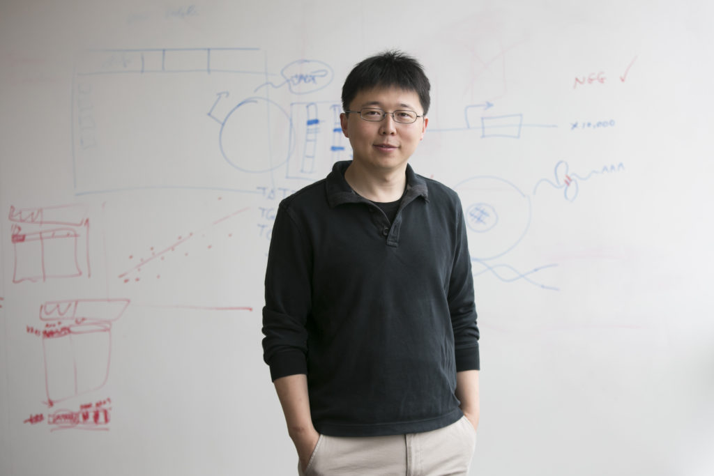 Feng Zhang at the Broad Institute in Cambridge, Mass.
