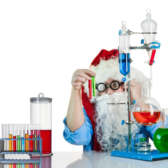 Santa Claus in lab
