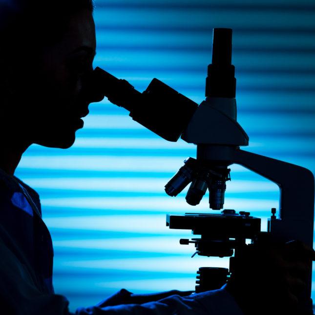 Silhouette scientist