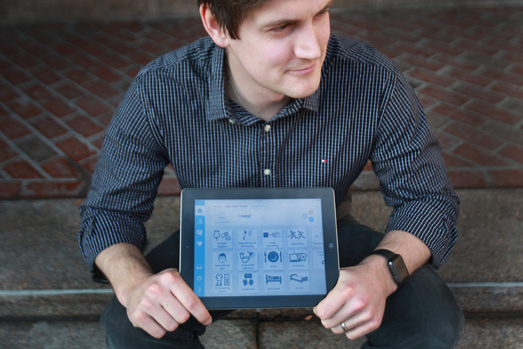 Nick Dougherty, co-founder of VerbalCare, an iPad app that helps patients communicate.