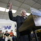 Democratic presidential candidate, Sen. Bernie Sanders, I-Vt. speaks during a stop at the United Steelworkers Local 310L union hall, Tuesday, Jan. 26, 2016, in Des Moines, Iowa. (AP Photo/Charlie Neibergall)