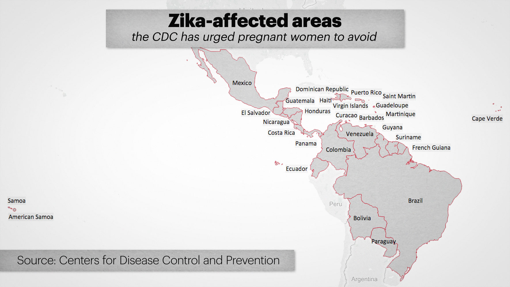 Map zika affected countries cdc urges pregnant women avoid gumiabroncs Images