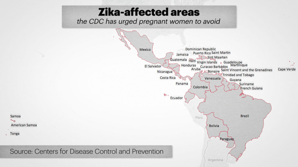 ZIKA MAP -- FEB 29, 2016