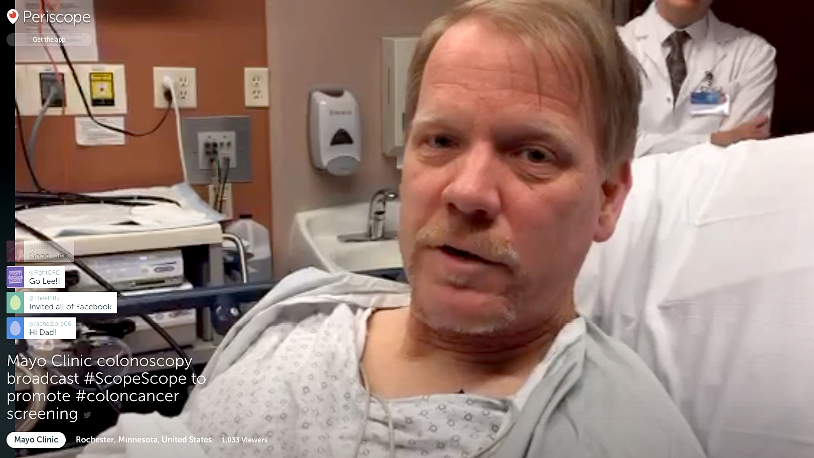 This Man Just Got A Colonoscopy Live On Periscope