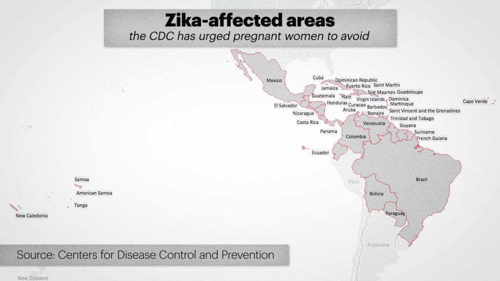 ZIKA MAP -- March 22