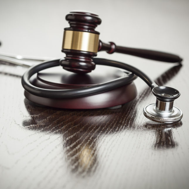 Gavel and Stethoscope due process