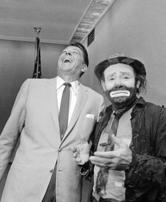 Emmett Kelly, Ronald Reagan