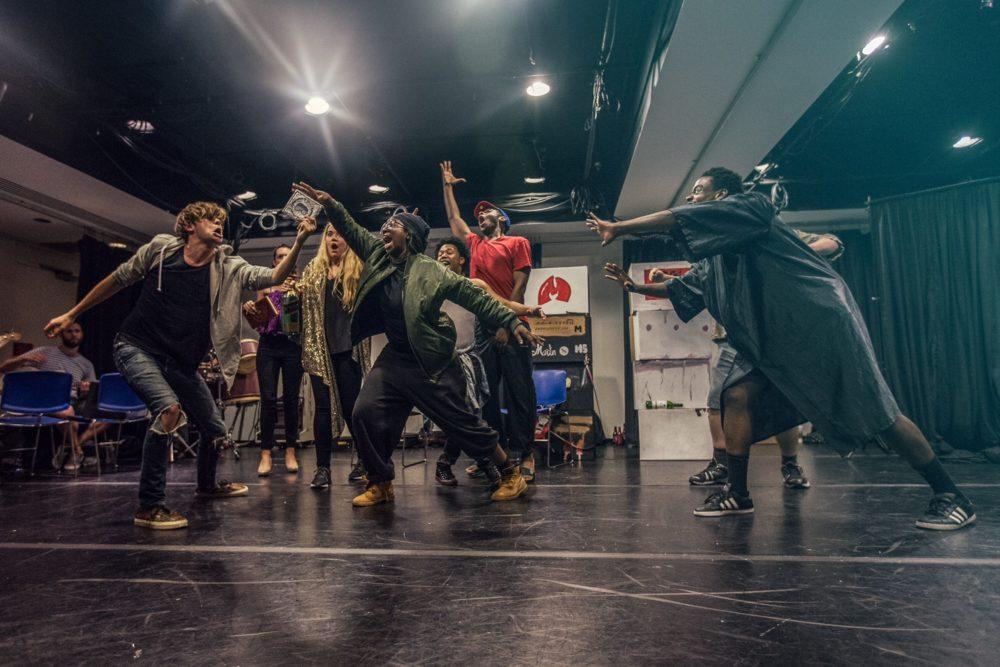 A scene from the new Martin Shkreli musical.