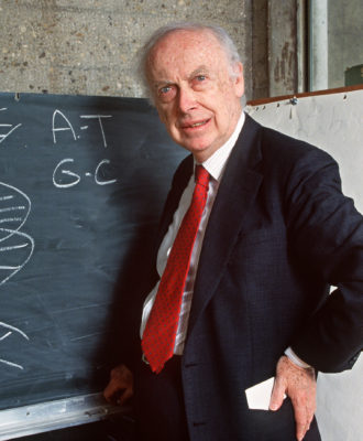 American geneticist James Dewey Watson in 1993.