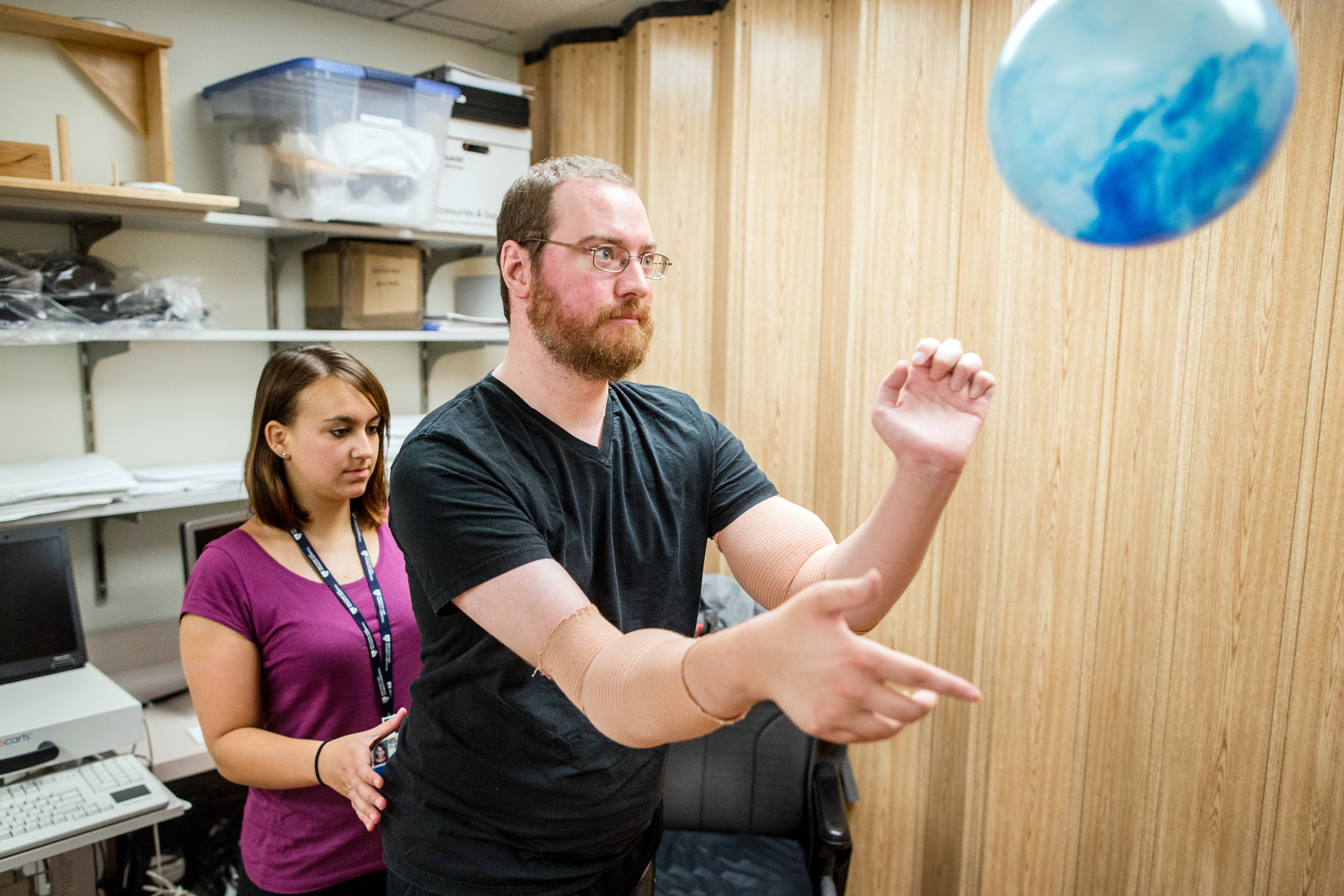 Grueling work required to make arm transplants succeed