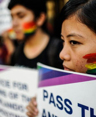LGBT violence vigil