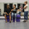 "Fall River, MA -- 08/01/16 -- L-R: Trauma Drama troupe members Hector Irizarry, Vanessa Medeiros, and Madeline Panella rehearse an interactive, therapeutic theatre piece with the theme ""family neglect"", that they will be performing during next week's Trauma Drama session.  (Kayana Szymczak for STAT)"