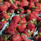 Strawberries are displayed for sale at an outdoor market in Arlington, Va., May 24, 2014. (AP Photo/J. Scott Applewhite)