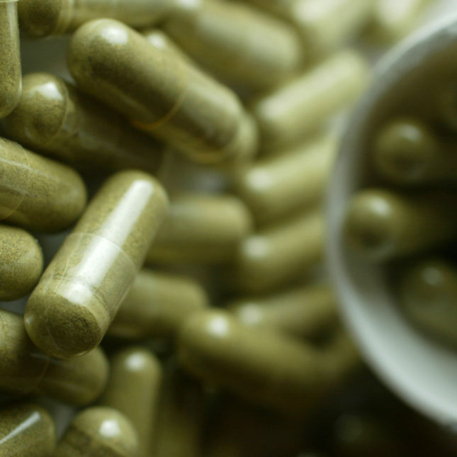 Herbal supp capsules