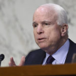 FILE - In this Jan. 27, 2016, file photo, Senate Armed Services Committee Chairman Sen. John McCain, R-Ariz., speaks during a hearing on Capitol Hill in Washington. The Obama administration's fight against the Islamic State is at risk of becoming a