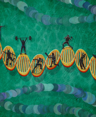 Athletics DNA test illustration