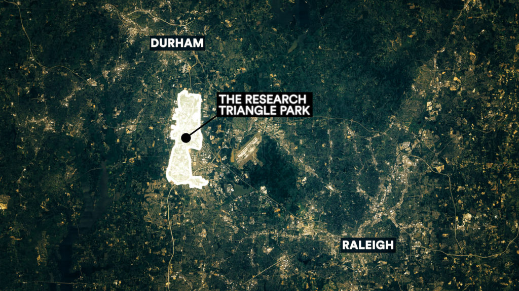 Map research triangle