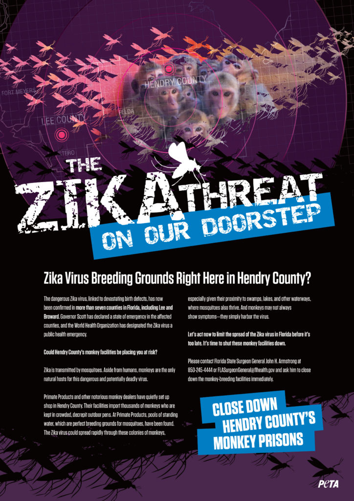 Zika Peta print ad