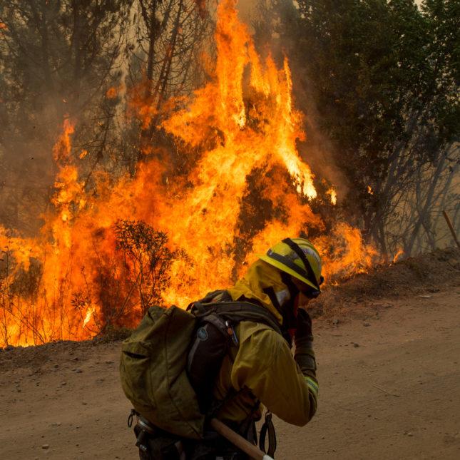 California Wildfire Firefighter