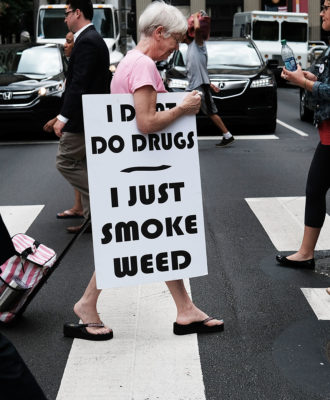 Protesters - marijuana