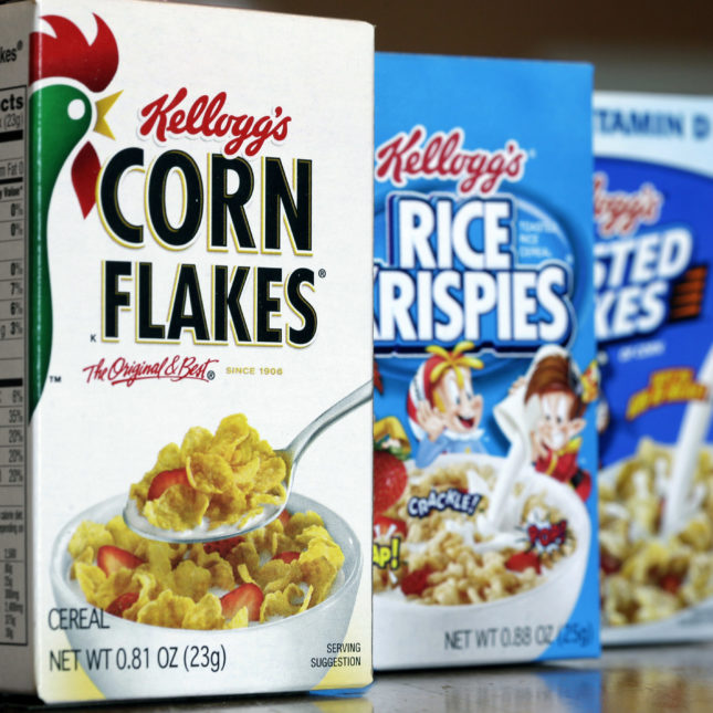 Kellogg cereal nutrition
