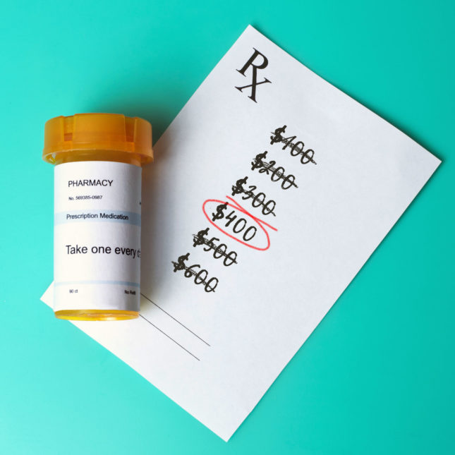 Prescription pricing illustration