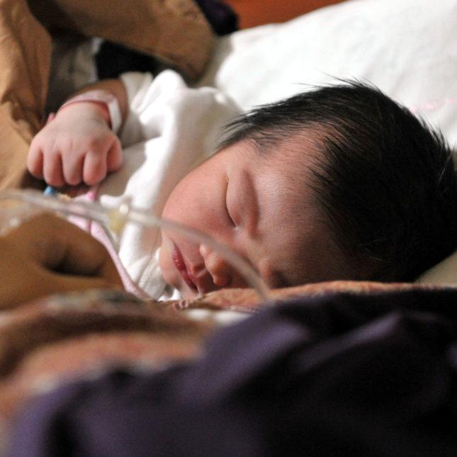 Caesarian birth