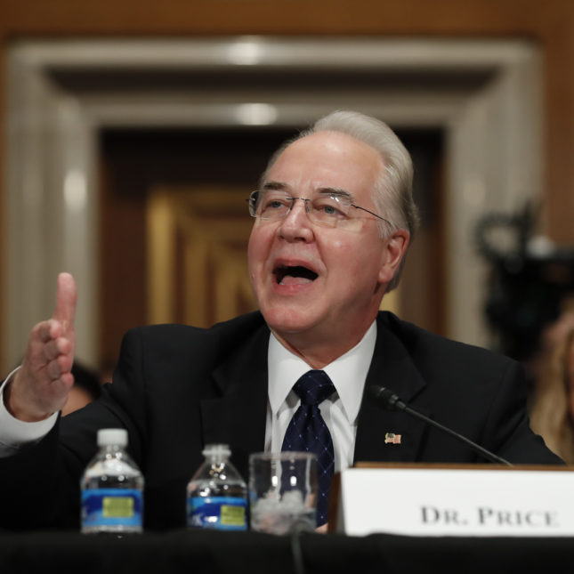 Tom Price hearing
