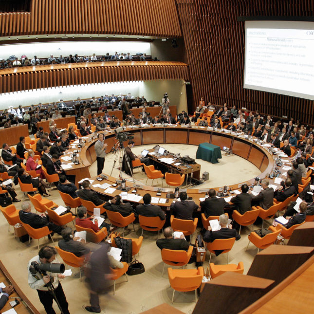 World Health Organization board room