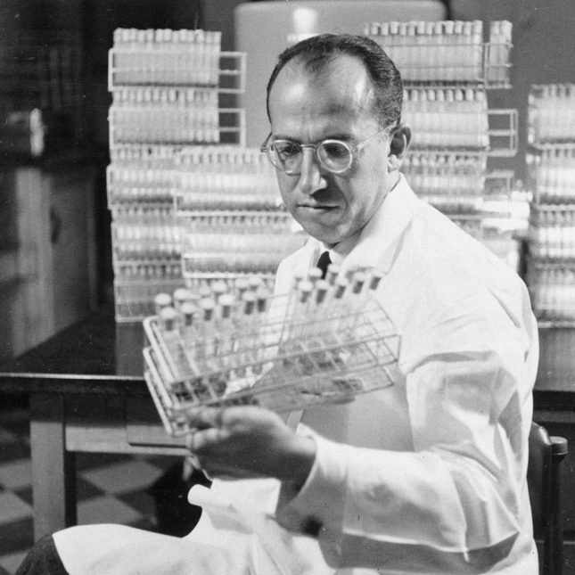 Jonas Salk, developer of the polio vaccine.