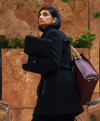 Likely next administrator of the Centers for Medicare and Medicaid Services, Seema Verma, whose confirmation