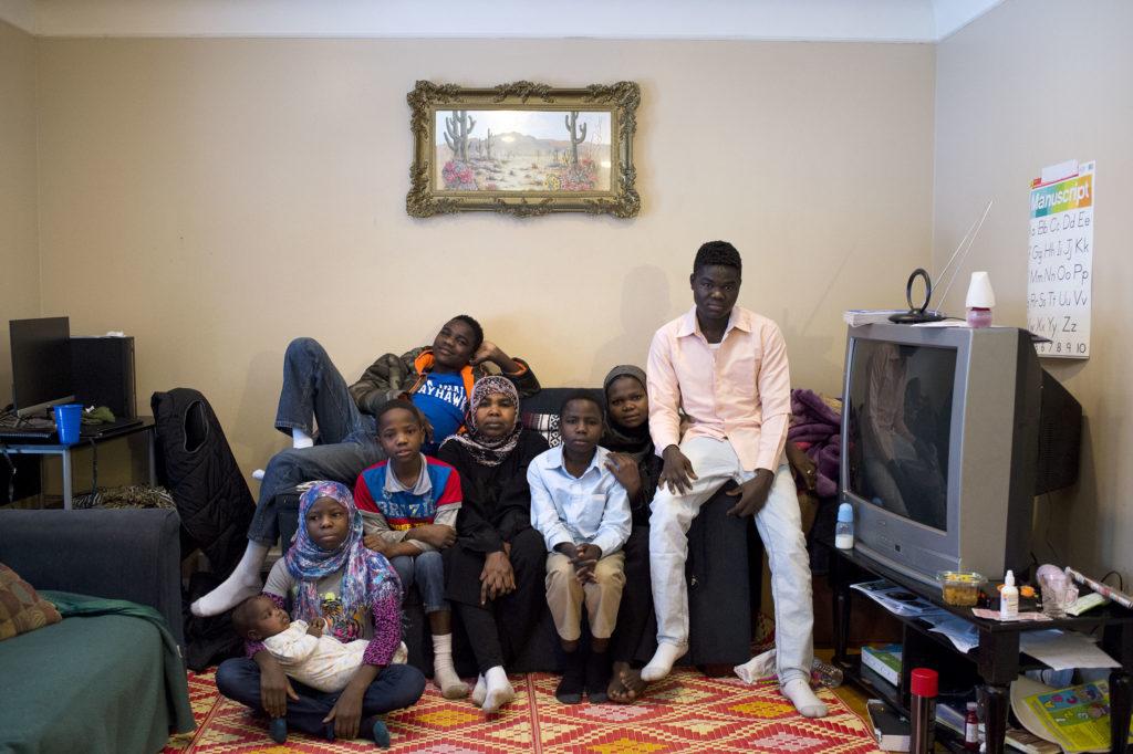 Sudanese Refugee Family
