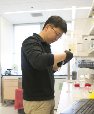 Dr. Feng Zhang in lab