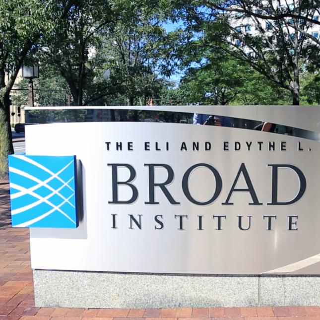 Broad Institute signage