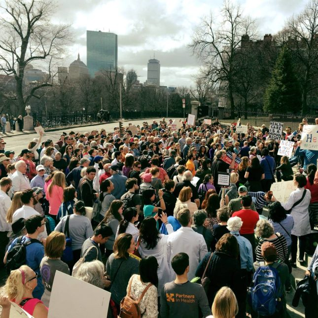 Boston doctor's march
