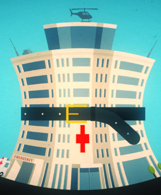 Hospital layoffs illo