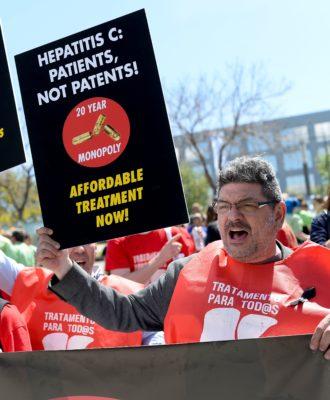 Hepatitis C protest