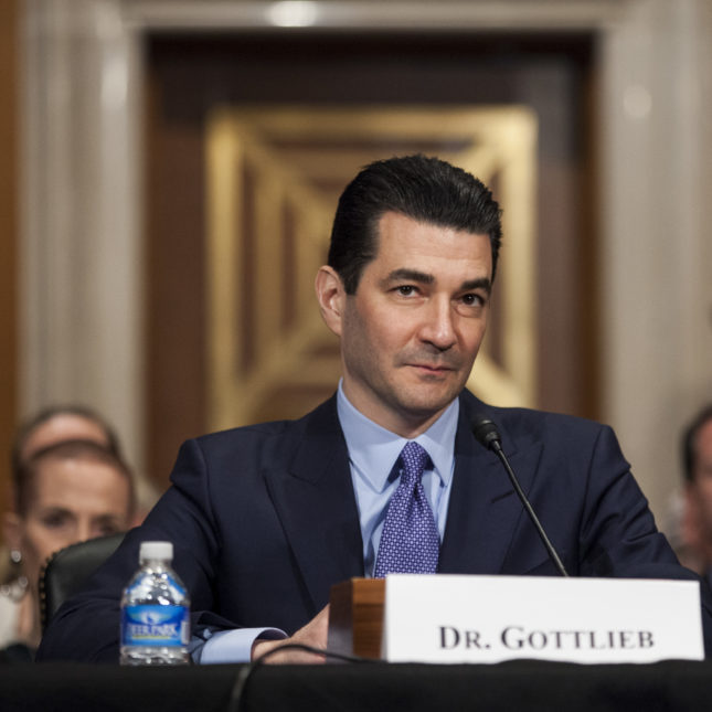 Senate votes to confirm Gottlieb as head of FDA