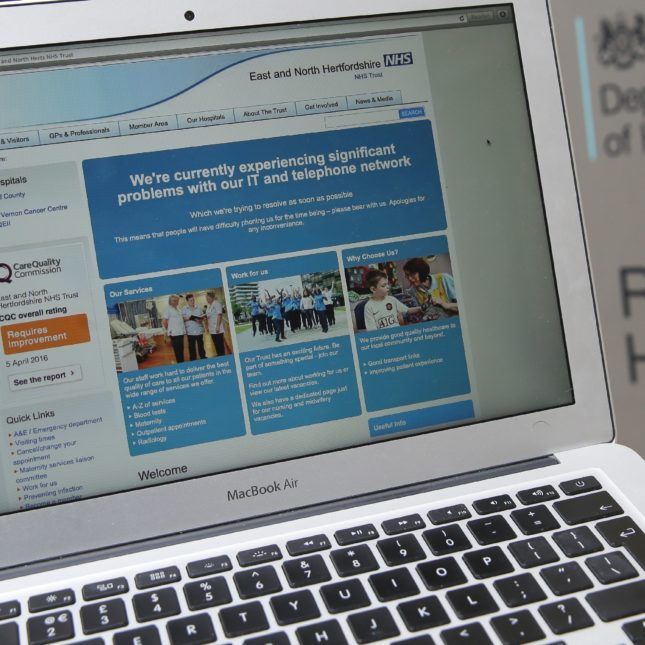 NHS Cyber attacks