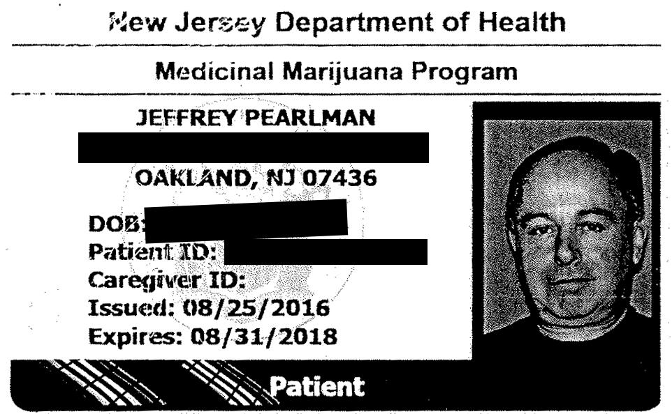 Marijuana Card redacted