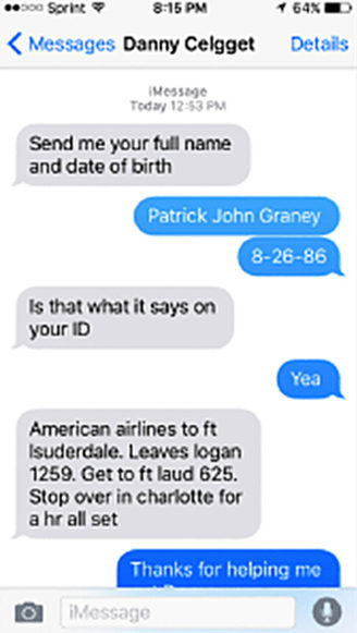 Cleggett Graney text message