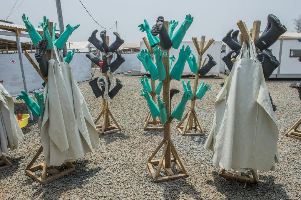 Ebola exhibit - racks
