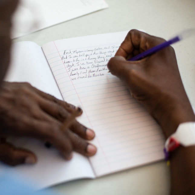 this writing group gives the homeless an outlet for their pain