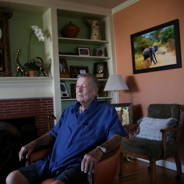 Biff Flanagan, an esophogeal cancer patient, at his home in San Diego, Calif.