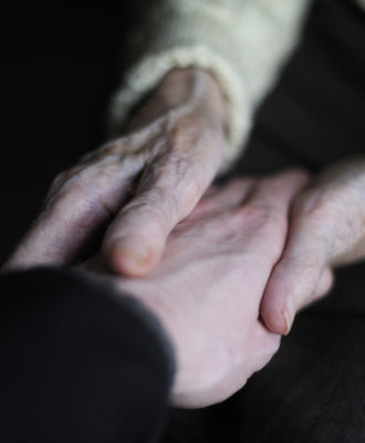 Alzheimer's patient hands
