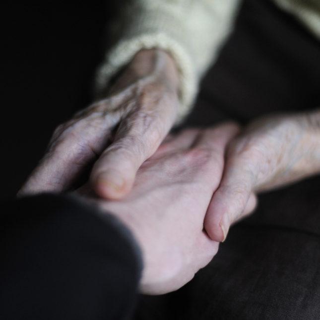 Alzheimer's patient hands