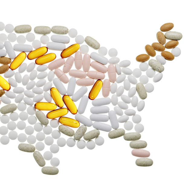 Pill map - United States